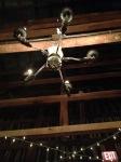 Eclectic chandeliers.